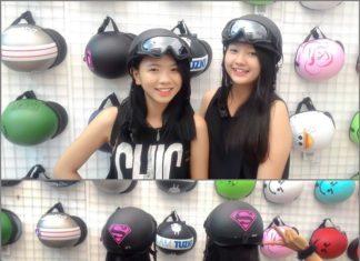 mũ bảo hiểm thời trang nữ