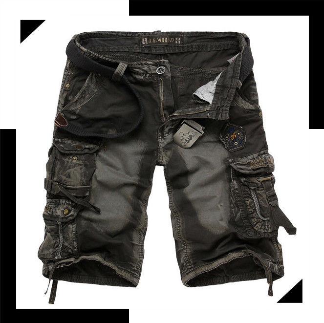 quần short jean vải loang