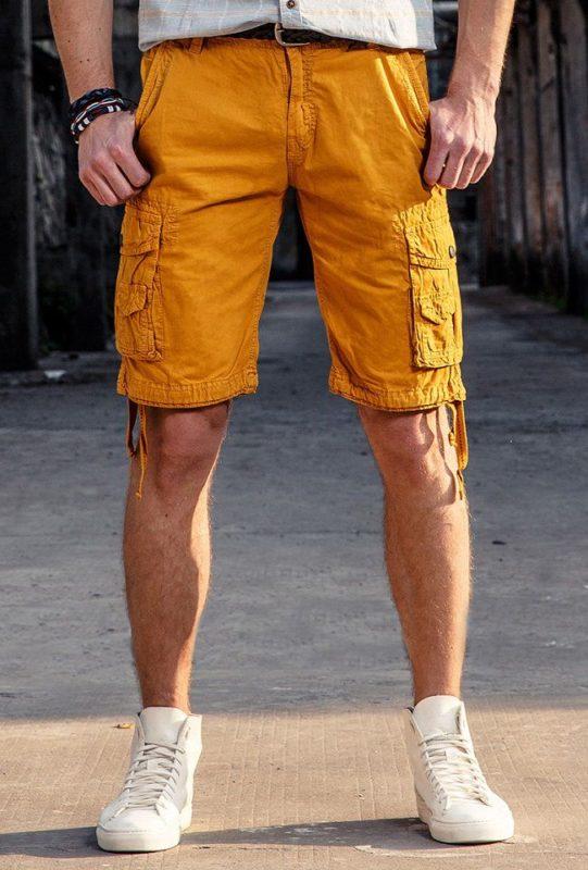 quần short kaki túi hộp nam