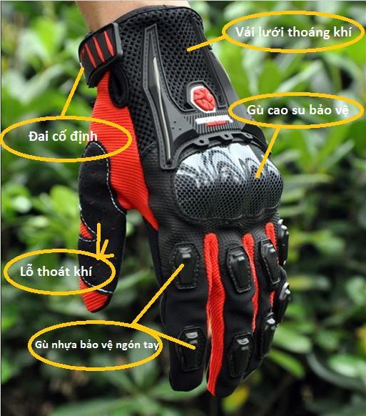 cấu tạo của găng tay xe máy đạt chuẩn